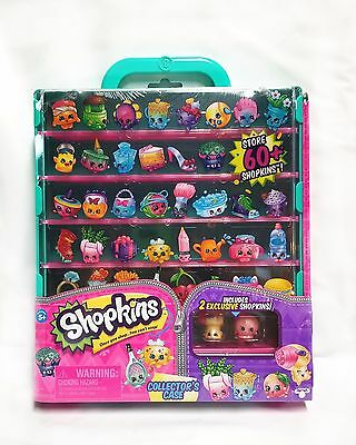 Shopkins Collector Case Green Includes 2 Exclusive Shopkins Season 5 and 6
