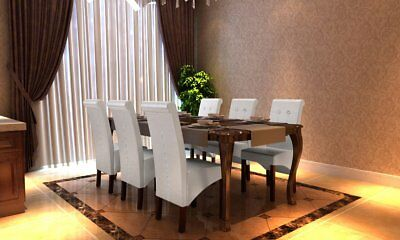 # 6x PU Leather Dining Chairs White Kitchen Stool High Back Seat Modern Wooden