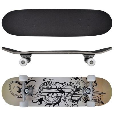 # New Complete Longboard Wheels Skateboard 79cm 9 Ply Maply Cruiser Deck Sector