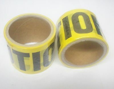 """(24) Rolls Yellow CAUTION Warning Tape For Safety Barrier 3"""" x 33 ft."""
