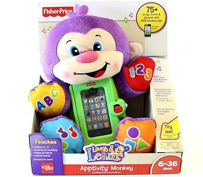 Fisher Price Laugh & Learn Apptivity Monkey Interactive Learning New