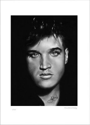 Elvis  Aaron  Presely   King Of Rock And Roll    Drawing   Limited Edition