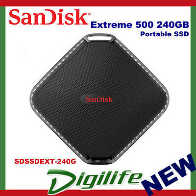 SanDisk 240GB Extreme 500 Portable SSD External Solid State Drive 415MB/s USB3.0