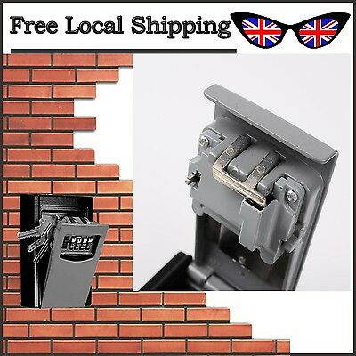 New High Security Steel Wall Mount Key Box with Combination Lock/Safe Store Keys