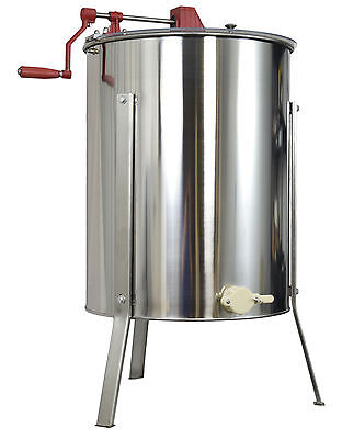 USED Four 4/8 Frame Stainless Steel Bee Honey Extractor Honeycomb Drum BEE-V004B