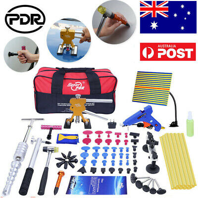 82pc Paintless Dent Removal PDR Tools Slide Hammer Puller Lifter Hail Repair Set