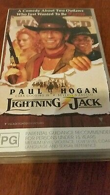 Lightning Jack -  Paul Hogan  - Vhs Video