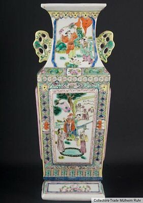 China 20. Jh. A Chinese Porcelain Two-Handled Baluster Vase Vaso Cinese Chinois
