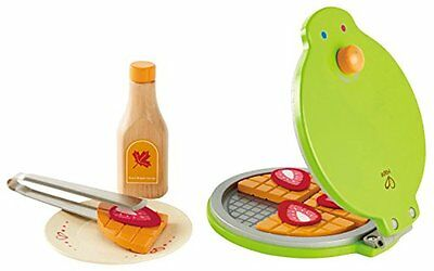 Brand New Hape Instant Waffles Wooden Pretend Play Kitchen Role Play Food