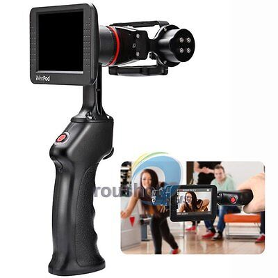 【US】Wenpod GP1 Handheld Gimbal Stabilizer w/3.5'' LCD+Battery For GoPro 4 3+ 3