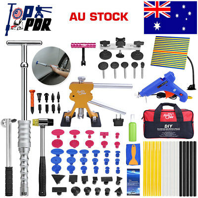 64Pcs Paintless Dent Removal Line Board Dent Puller Lifter Full PDR Tools