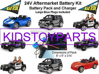 NEW! 24V Conversion Kit UPGRADE for 12V KID TRAX Cars/Trucks (Battery & Charger)