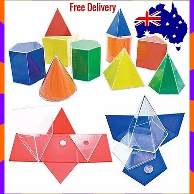 Folding Geometric Shapes Education  Resources for Learning (20 piece) 3D Nets
