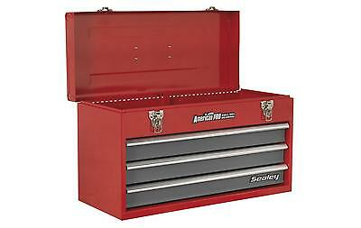 Sealey AP9243BB Tool Chest 3 Drawer Portable With Ball Bearing Runners Red New