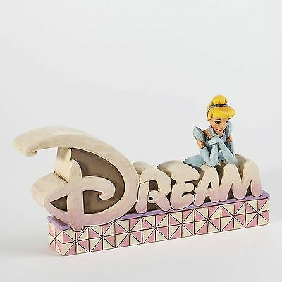 "Disney Traditions - Cinderella ""Dream"" Word Plaque Jim Shore Figurine 4027139"