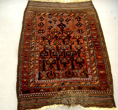 Unusual Antique Balouch Prayer Rug