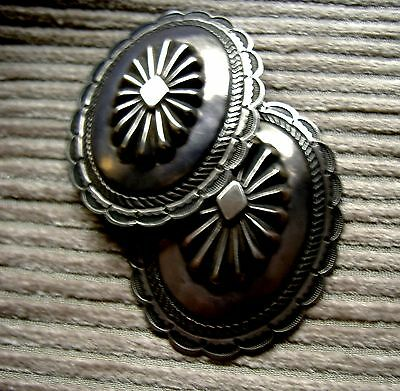 MUSEUM QUALITY PAIR OF CONCHOS EARLY 20th CENTURY