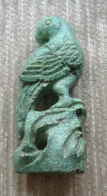 Antique Chinese Turquoise Sculpture Of A Bird