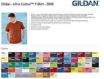 Gildan Ultra Cotton T-SHIRTS BLANK BULK LOT Colors or White S-XL Wholesale