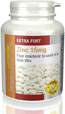 Zinc 15mg - 120 comprimés - Simply Supplements