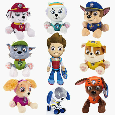 Cute PAW PATROL Action Figures Soft Plush Teddy Doll Kids Boy Girl Toy Xmas Gift
