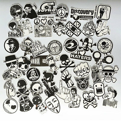 50pcs Waterproof Funny Car Snowboard Laptop Luggage Bike Stickers Decals