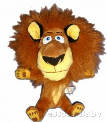 Peluche doudou Madagascar lion Alex Dreamworks Big headz 24 cm