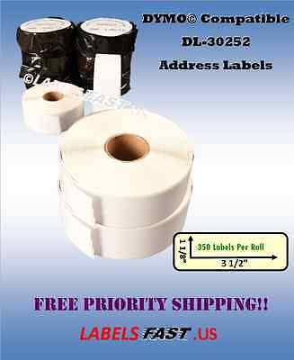 30252 Labels Compatible w/ Dymo® LabelWriters - 1-200 Rolls BEST PRICES ON EBAY!