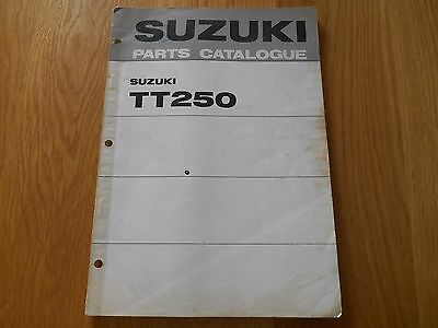 Suzuki, TT250 Hustler, Parts book list catalogue diagrams, 99000 91680