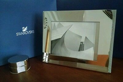 NEW Swarovski Ambiray Picture Frame and Box set. Silver, crystal