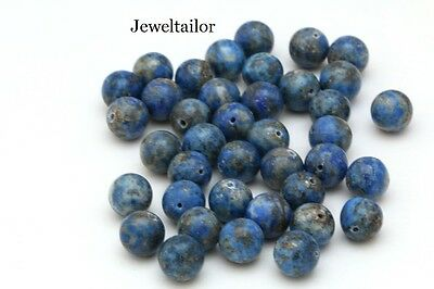SALE! 20 QUALITY BLUE LAPIS LAZULI SMOOTH ROUND BEADS 10mm UK CRAFTS