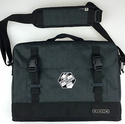 NEW OGIO Charcoal Gray Messenger Laptop Bag Honey Bee Branded OPEN JAR CONCEPTS