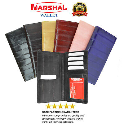 Genuine eel skin checkbook cover credit card holder Marshal®