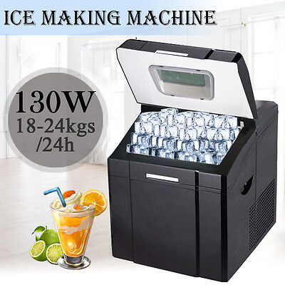 3.2L Black Counter Table Top Ice Cube Machine Maker Bar Drinks Cocktails