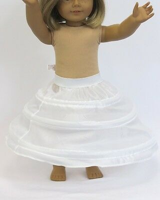 """Doll Clothes 18"""" Hoops Petticoat Slip Underskirt Dress Fit American Girl Doll"""