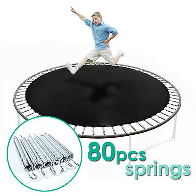 New_ 12'ft Trampoline Combo Bounce Jump Safety Mat with 80pcs Springs