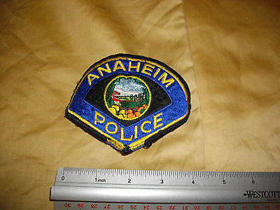 police patch california ANAHEIM police as seen