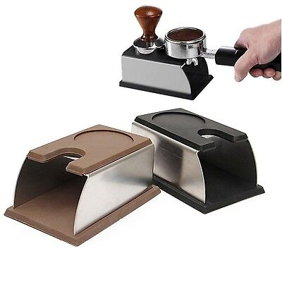 COFFEE *TAMPER TAMPING STAND* with Tamper Rest- stainless steel  - BLACK