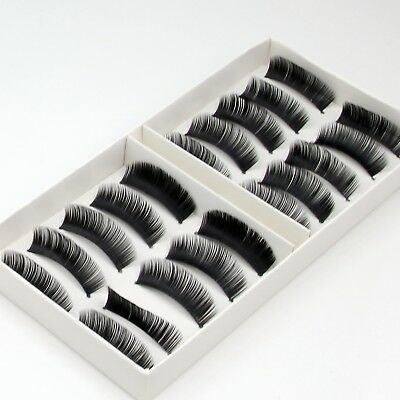 10 Pairs New Natural False Eyelashes Fake Makeup Eye Lashes Lash with Glue -EU-