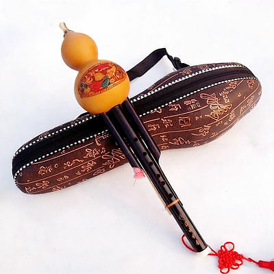 *Sale * Chinese Hulusi Drone Flute in C or bB Flute Case 1PCS Hulusis+box