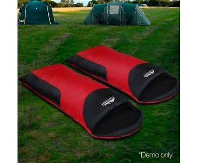 Weisshorn Double Camping Sleeping Bag Combo Envelope Shaped Lightweight With Bag