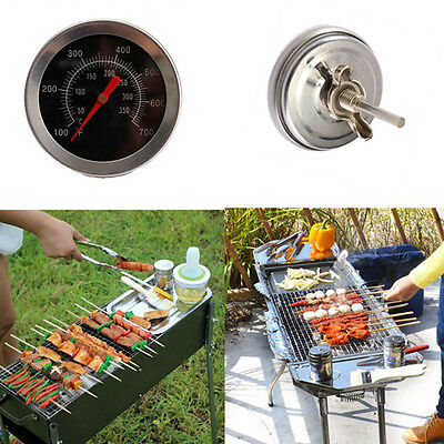 Stainless Steel Pizza Grill Oven Thermometer Kitchen Tool Outdoor Picnic SE