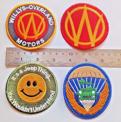 4X WILLYS OVERLAND MOTOR JEEP PATCH WW2 PART HISTORY COMPANY PARATROOPER catalog