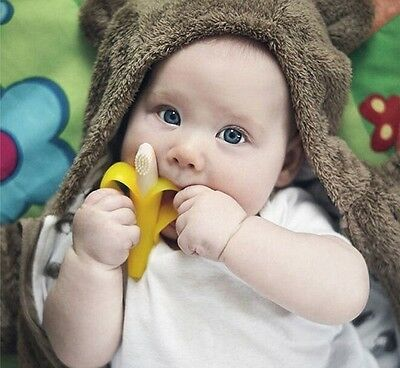 Silicone Banana Toothbrush Baby Training High Quality And Environmentally Safe