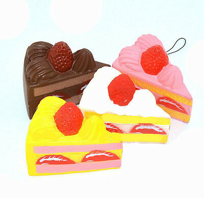 Scented Cream Toy Cute Slow Rising Shortcake Phone Straps Strawberry Squishy