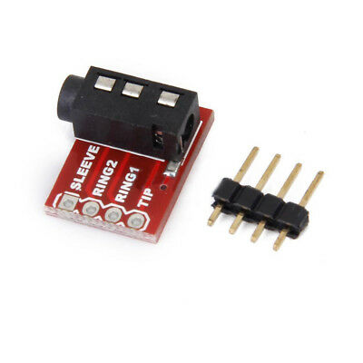 2PCS TRRS 3.5mm Audio Jack Breakout Headset Microphone Stereo Interface Module