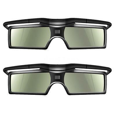 2x 3D DLP-Link Active Shutter Glasses 144Hz for Optoma BenQ Sharp Projector Y0S3