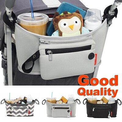 Baby Changing Pram Stroller Buggy Storage Pushchair Bag For Bottle Cup Organizer