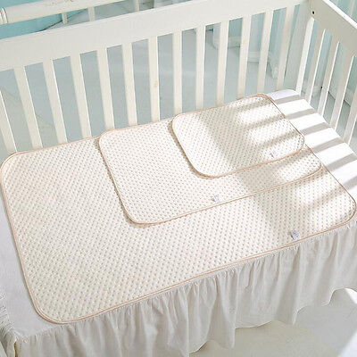 Waterproof Baby Infant Cotton Urine Pad Sleep Mat Nappy Cover Burp Changing Pad