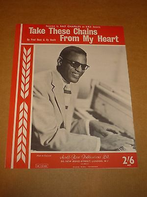 """Ray Charles """"Take These Chains From My Heart"""" sheet music"""